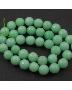 Jade (Amazonite) Dyed 10mm Faceted Round Beads