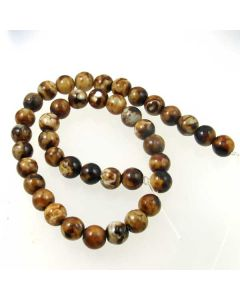 Leopard Agate 10mm Round Beads
