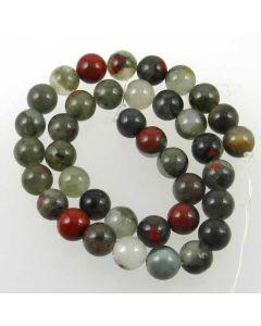 African Bloodstone (Seftonite) 10-10.5mm Round Beads