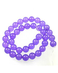 Jade (Light Violet) dyed 10mm Round Beads