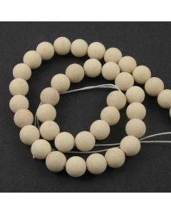 Fossil Stone MATT 10mm Round Beads