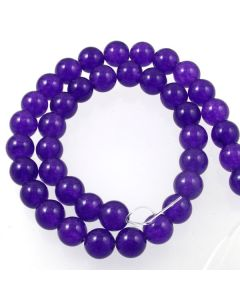 Purple Jade (dyed) 10mm Round Beads