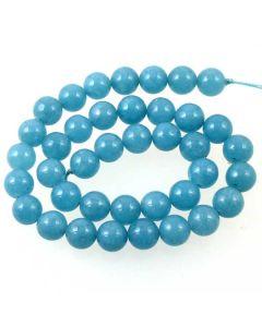 Blue Sponge Quartz (dyed) 10mm Round Beads