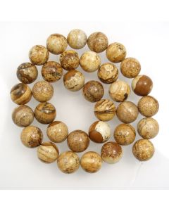 Picture Jasper 12mm Round Beads