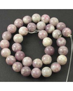Lavender/Grey Jasper 12mm Round Beads