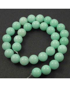 Jade (Amazonite) Dyed 12mm Round Beads