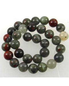 African Bloodstone (Seftonite) 12.5mm Round Beads