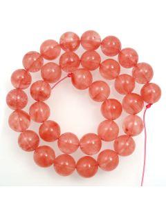 Cherry Quartz 12mm Round Beads