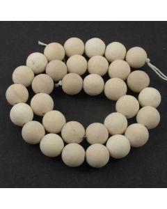 Fossil Stone MATT 12mm Round Beads