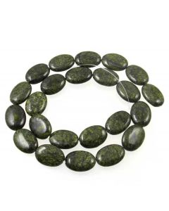 Russian Serpentine 13x18mm Oval Beads