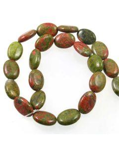 Unakite 13x18mm Oval Beads