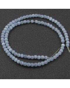 Cats Eye Beads - 4mm Light Blue