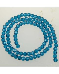 Apatite Blue  Faceted Glass Beads 4mm ROUND (approx 98 beads)