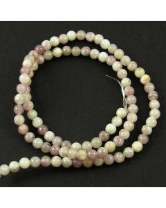 Lavender/Grey Jasper 4mm Round Beads