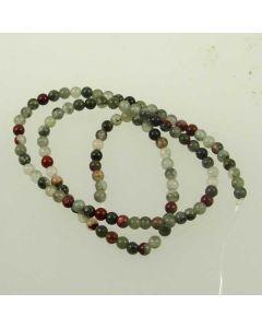 African Bloodstone (Seftonite) 3.5-4mm Round Beads