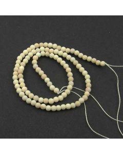 Fossil Stone MATT  3.5-4mm Round Beads