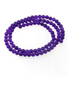 Purple Jade (dyed) 4mm Round Beads