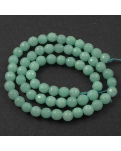 Jade (Amazonite) Dyed 6mm Faceted Round Beads