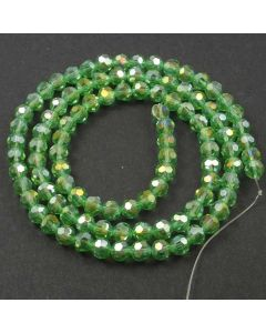 Green AB  Faceted Glass Beads 6mm Round