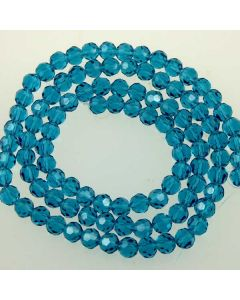 Apatite Blue  Faceted Glass Beads 6mm ROUND (approx 100 beads)