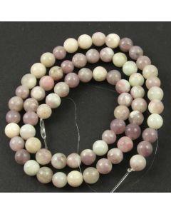 Lavender/Grey Jasper 6mm Round Beads