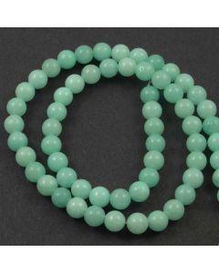 Jade (Amazonite) Dyed 6mm Round Beads