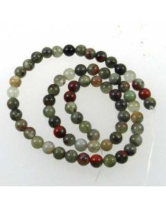 African Bloodstone (Seftonite) 6mm Round Beads