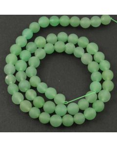Green Aventurine 6mm FROSTED Round Beads