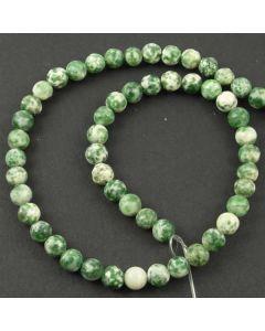 Green Spot Stone MATT 6.5mm Round Beads