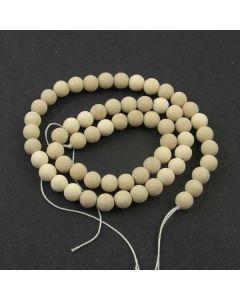 Fossil Stone MATT 6mm Round Beads