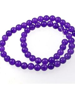 Purple Jade (dyed) 6mm Round Beads