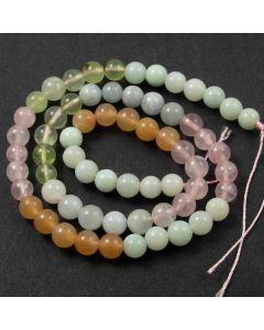 Beryl (multi stone) 6mm Round Beads