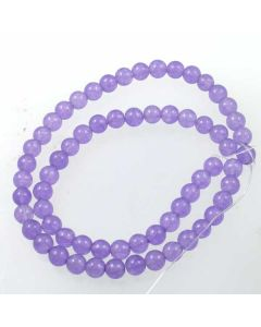 Jade (Violet)  dyed 6mm Round Beads