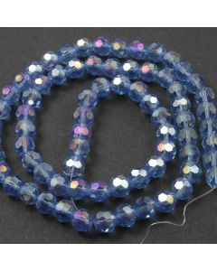 Blue AB  Faceted Glass Beads 8mm Round