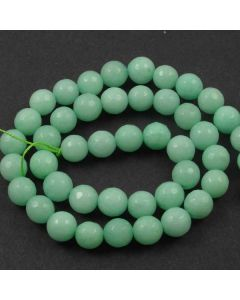 Jade (Amazonite) Dyed 8mm Faceted Round Beads
