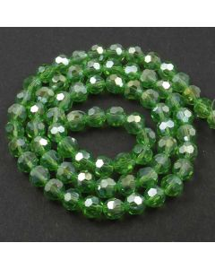 Green AB  Faceted Glass Beads 8mm Round