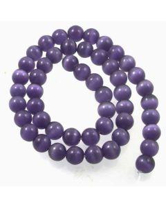 Cats Eye Beads - 7.5mm Lavender Blue