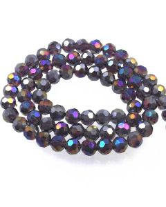 Purple AB  Faceted Glass Beads 8mm Round