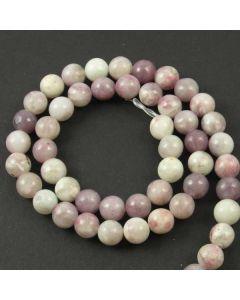 Lavender/Grey Jasper 8mm Round Beads