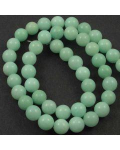 Jade (Amazonite) Dyed 8mm Round Beads