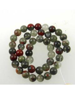 African Bloodstone (Seftonite) 8.5mm Round Beads