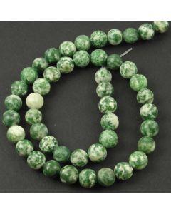 Green Spot Stone MATT 8.5mm Round Beads