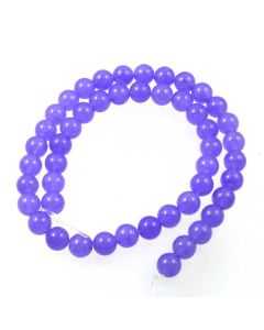 Jade (Lavender) dyed 8mm Round Beads