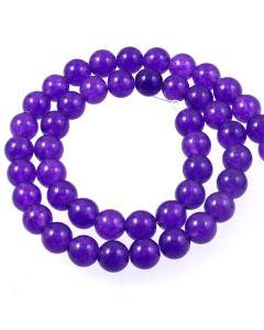 Purple Jade (dyed) 8mm Round Beads