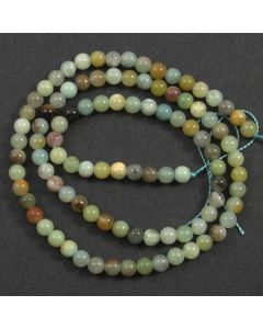 Chinese Amazonite (Multi-colour) 4mm Round Beads