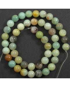 Chinese Amazonite (Multi-colour) 8mm Round Beads