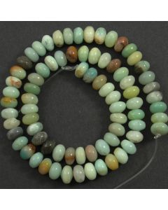 Chinese Amazonite (Multi-colour) 5x8mm Rondelle Beads
