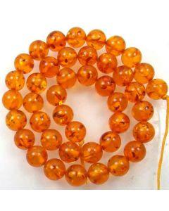 Amber (Imitation) 10mm Round Beads 2