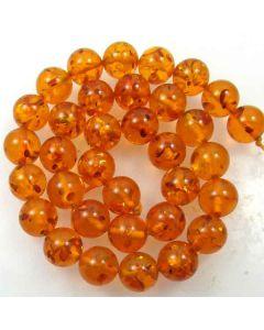 Amber (Imitation) 12mm Round Beads