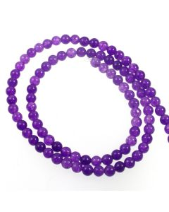 Malay Jade (Dyed Amethyst Quartzite) 4mm Round Beads